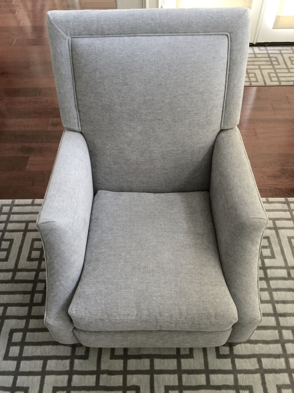 Recliner - Lee Industries in indoor-outdoor fabric