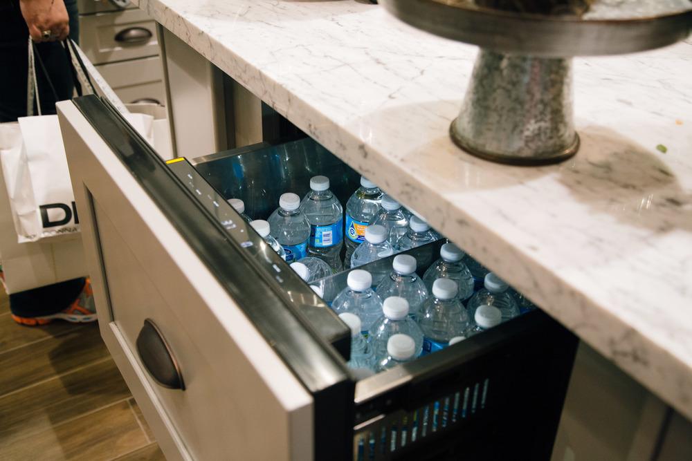 Undercounter fridge | Interior Designer: Bobby Berk