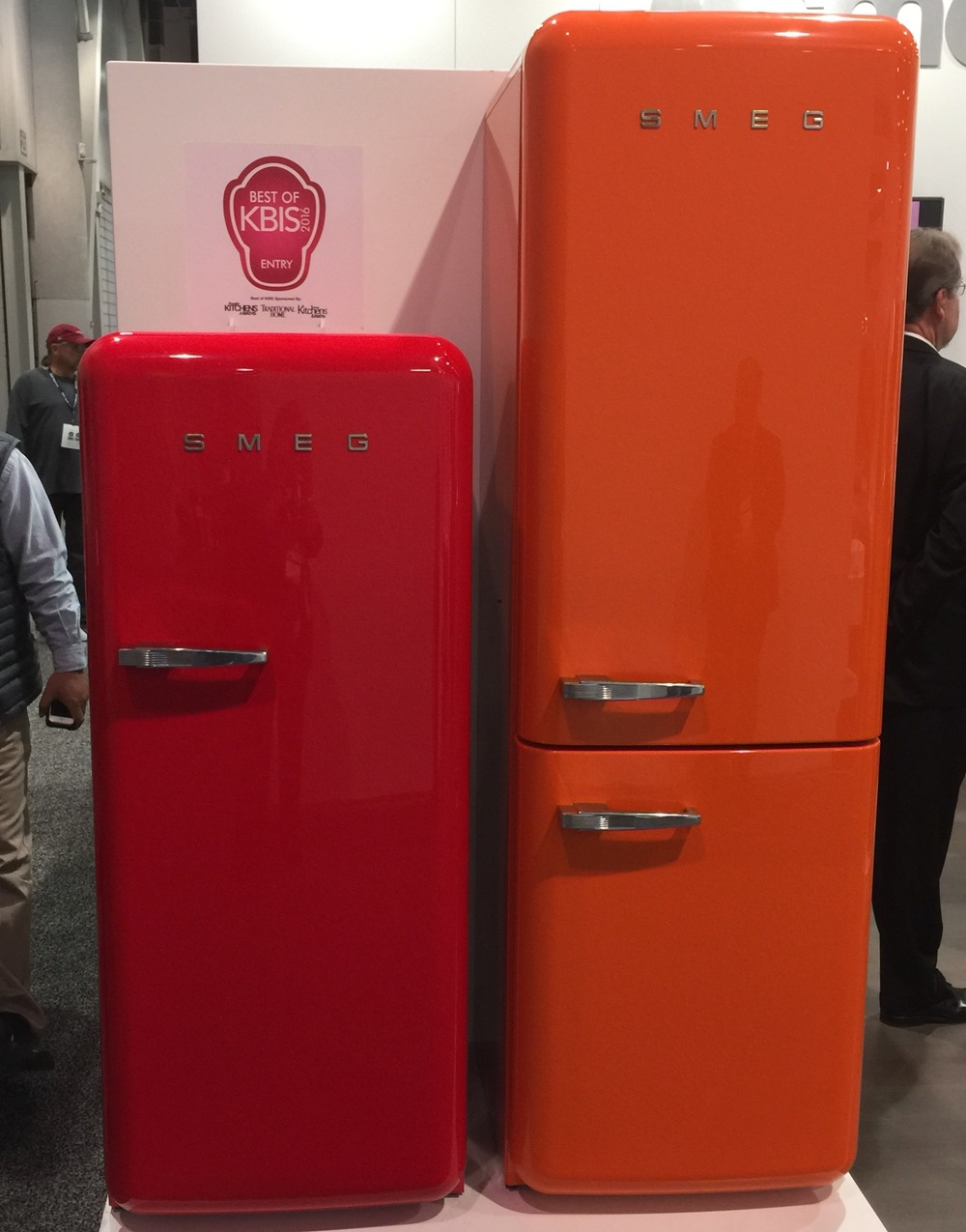 Colorful Retro Smeg Refrigerators - seen at KBIS2016