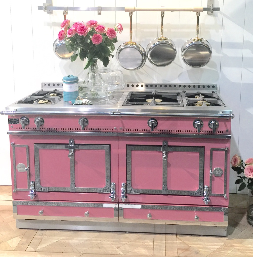 La Cornue Range - Suzanne Kasler pink color seen at KBIS2016