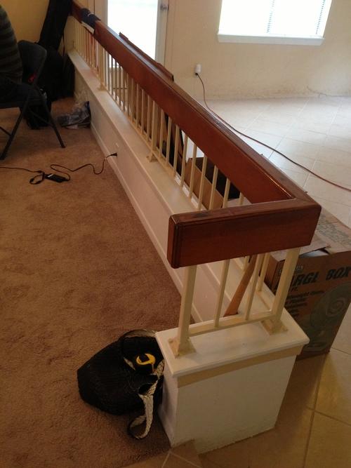 Bachelor Pad   Sunken Living Room W Railing