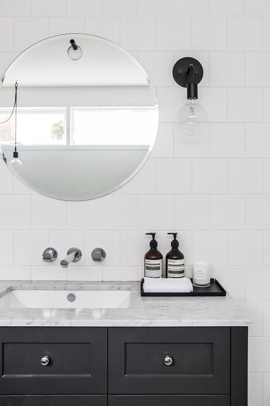 Projects That WOW With Standard X Or X Square Tiles DESIGNED - White square tile bathroom
