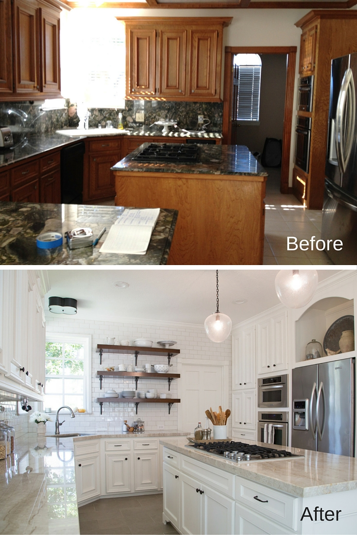BEFORE & AFTER: A Dark, Dismal Kitchen Is Made Light & Bright!
