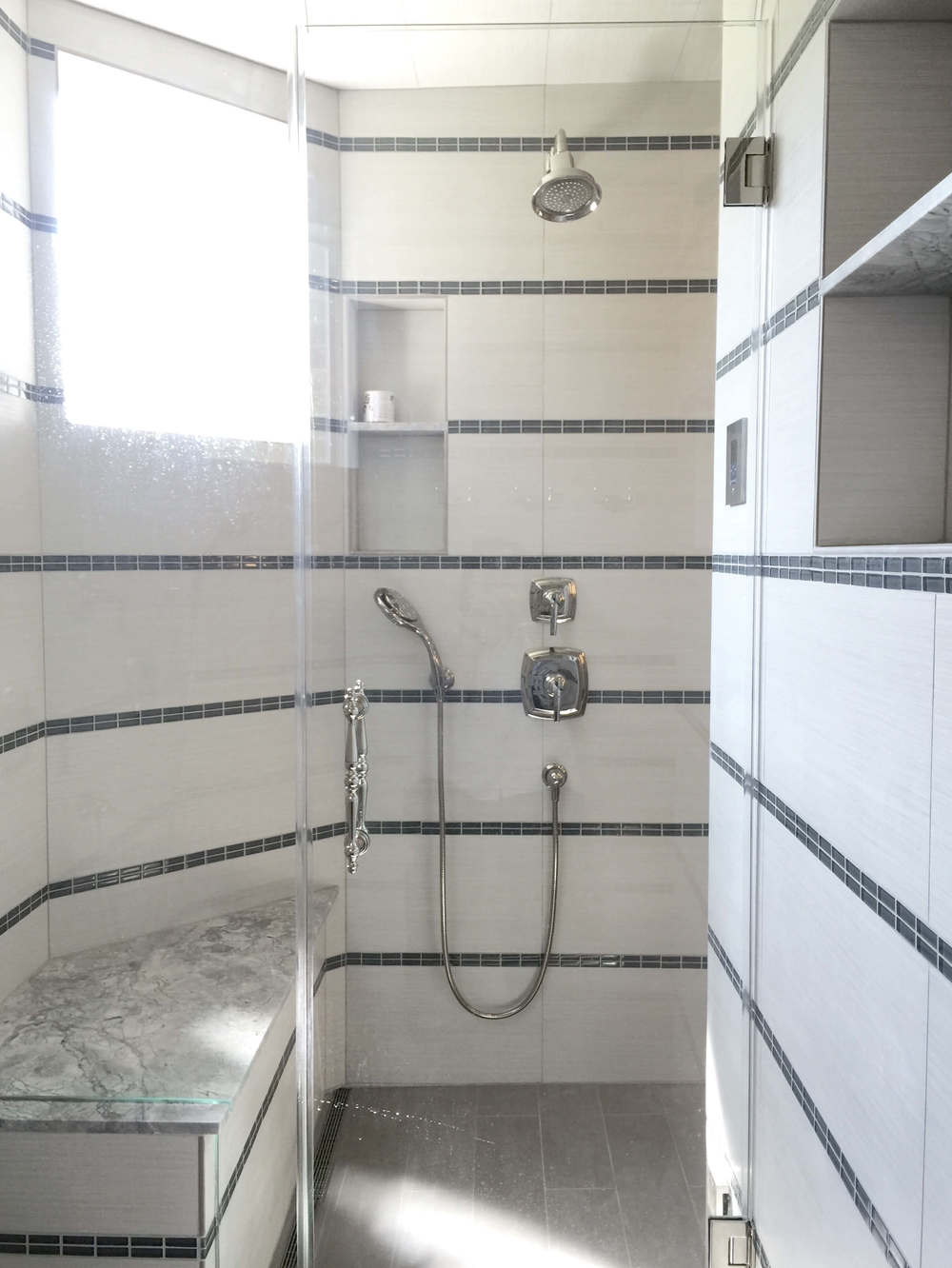 Steam Shower - (End of construction pic, hence the glass being a bit spotted!)