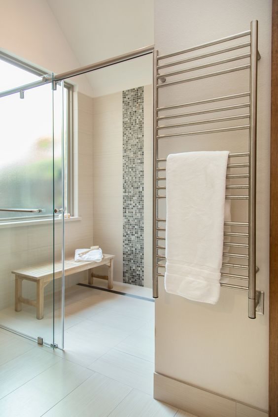 10 Of My Best Bathroom Design Tips! | Zero entry or curbless shower makes for easier access | Designer: Carla Aston #bathroomdesign #zeroentryshower #curblessshower #bathroomshower #showerstall