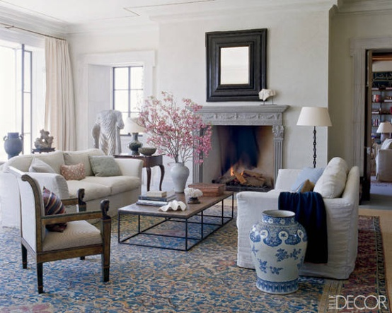 Designer: Michael S. Smith, Image via:  Elle Decor