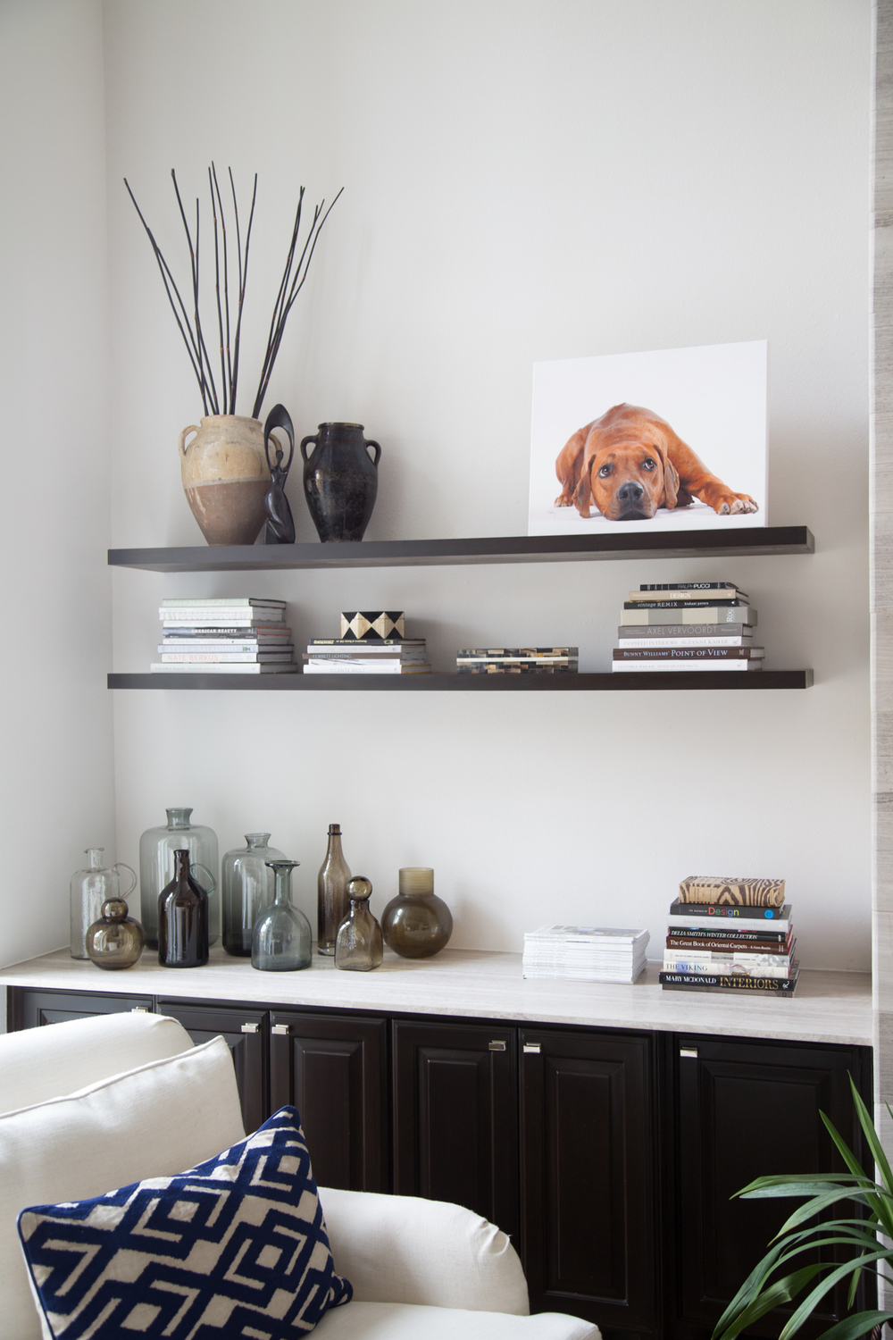 Floating bookshelf styling, Tori Aston, photographer