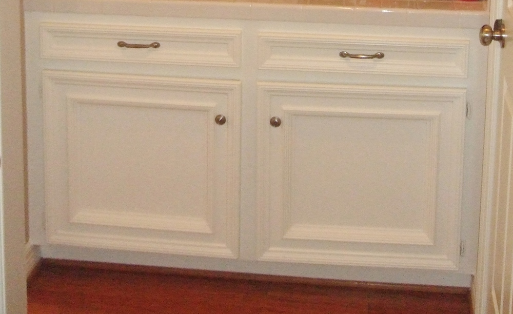 Dated custom cabinetry