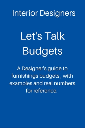 Whether you're a designer or a homeowner looking to develop a furnishings budget, this guide will give you a good understanding of what things really cost.  Click here for more info.