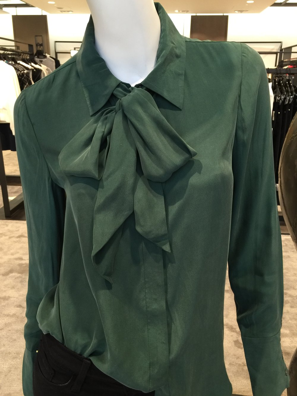 BUY NOW:  Tie Neck Silk Blouse @ Nordstrom