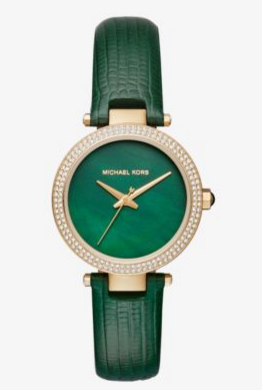 BUY NOW: Mini Parker Pavé Gold-Tone And Leather Watch @ Michael Kors