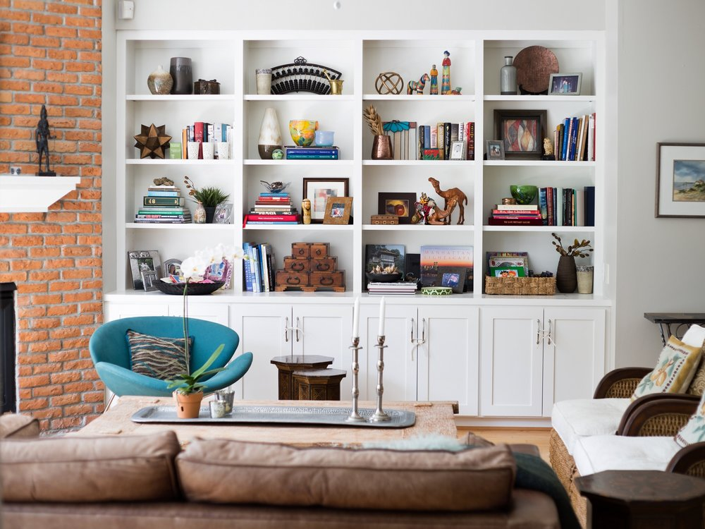 After - Bookshelf styling - Carla Aston, Designer / Tori Aston, Photographer