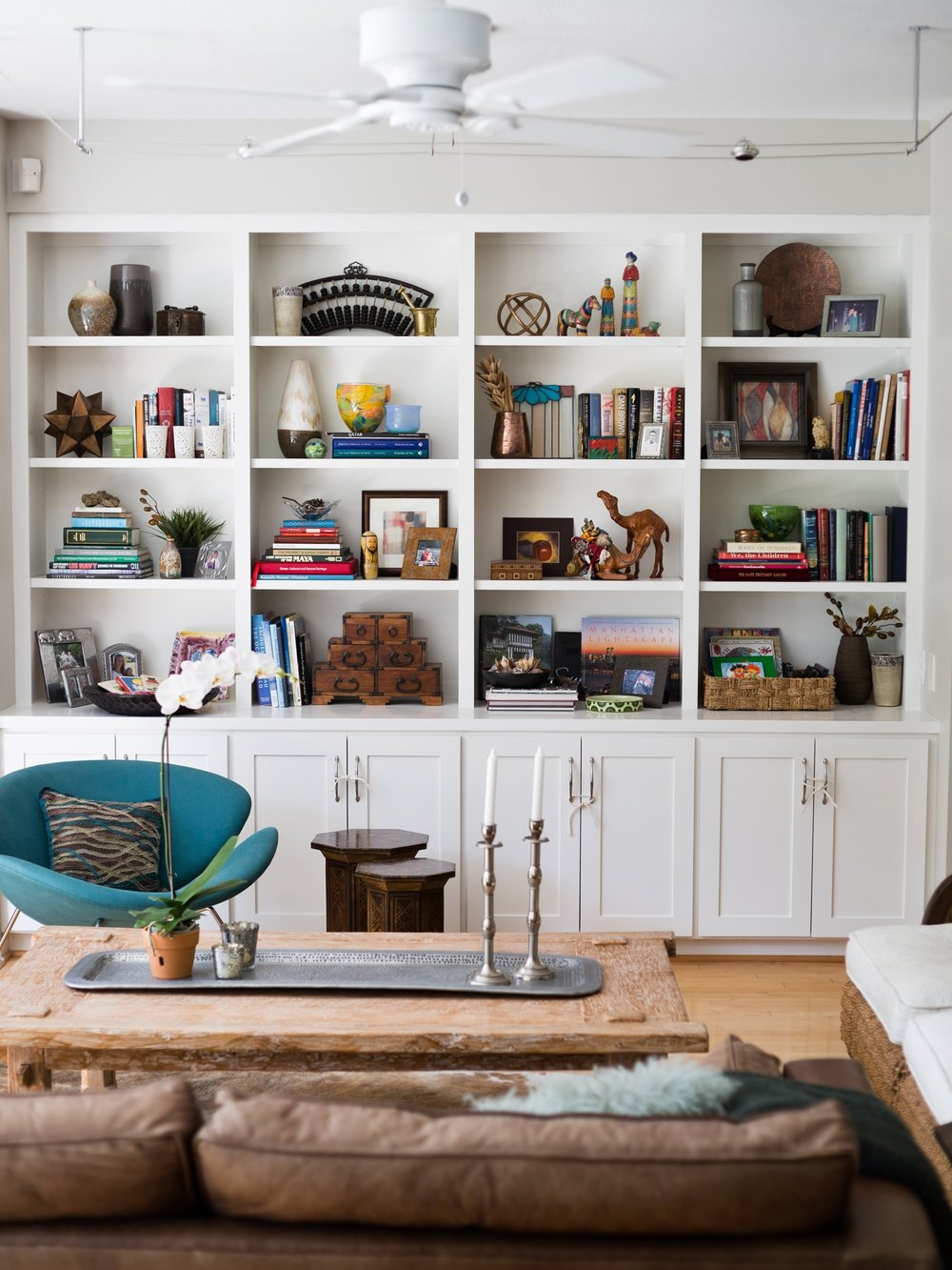 After - Bookshelf styling, Carla Aston - Designer, Tori Aston - Photographer