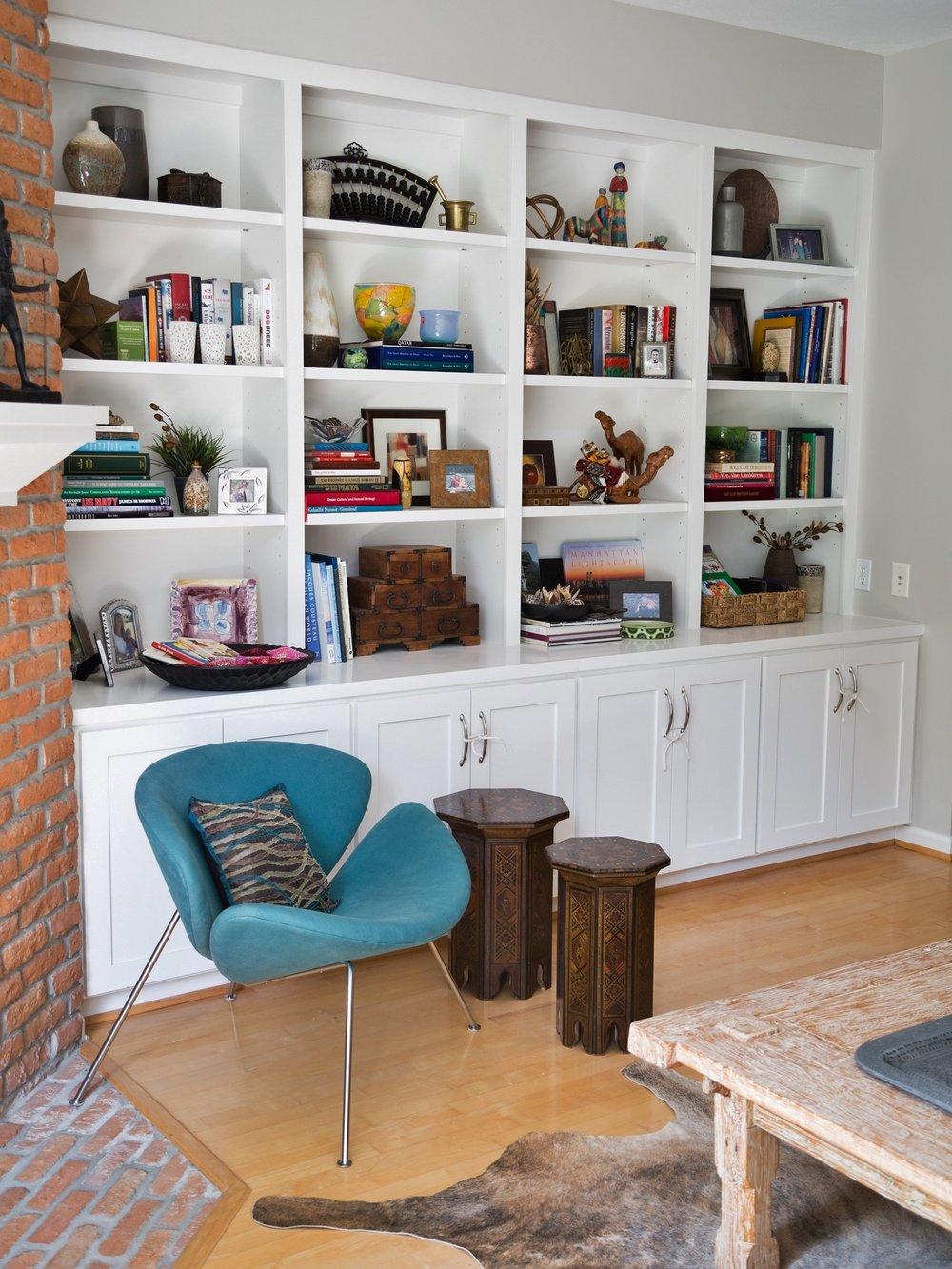 After - Bookshelf styling, Carla Aston - Designer, Tori Aston - Photographer