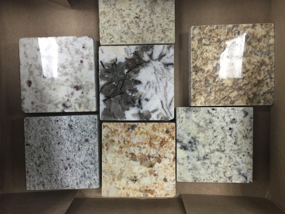 spotty granite samples