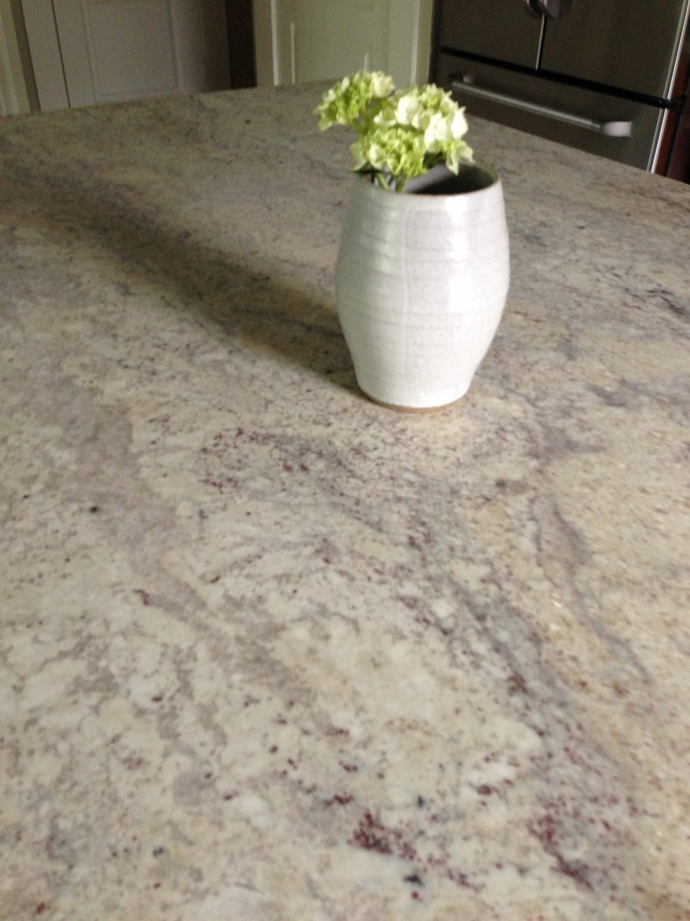 Kashmire White Granite in honed finish, Kitchen Remodel - Carla Aston, Designer