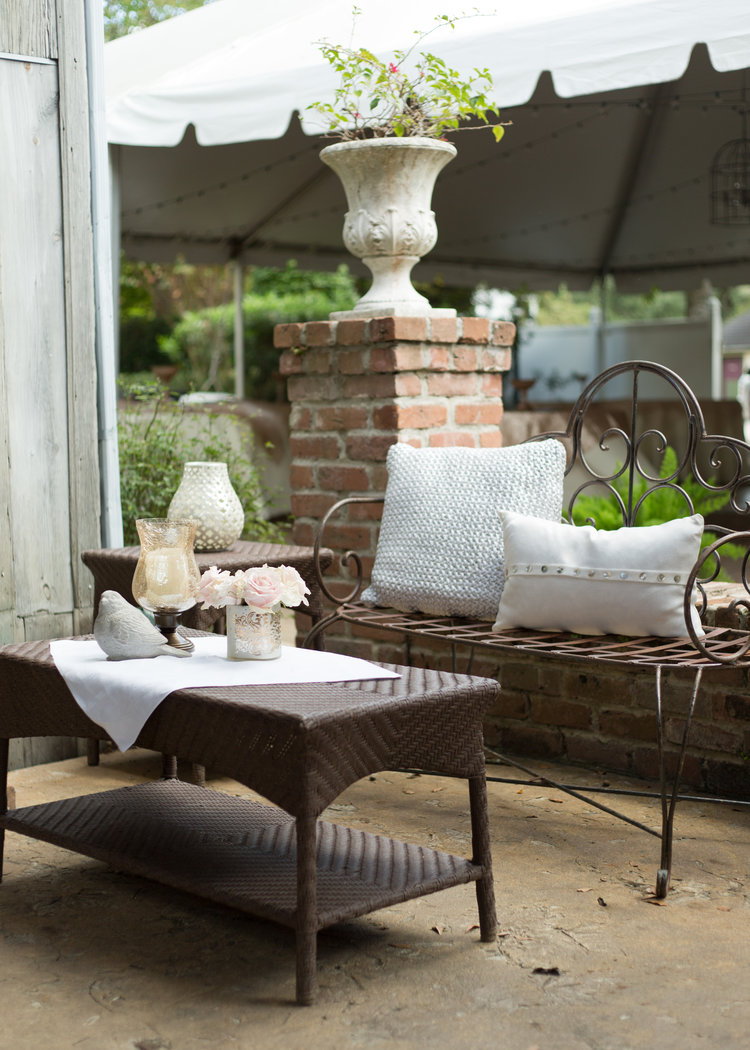Before and After: Wedding Courtyard Makeover - Designer: Carla Aston, Photo: Tori Aston