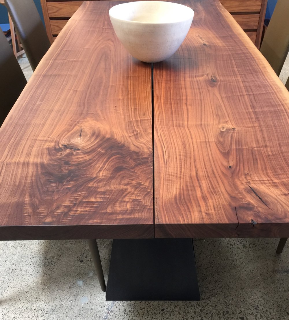 Live edge walnut table from Nido Living