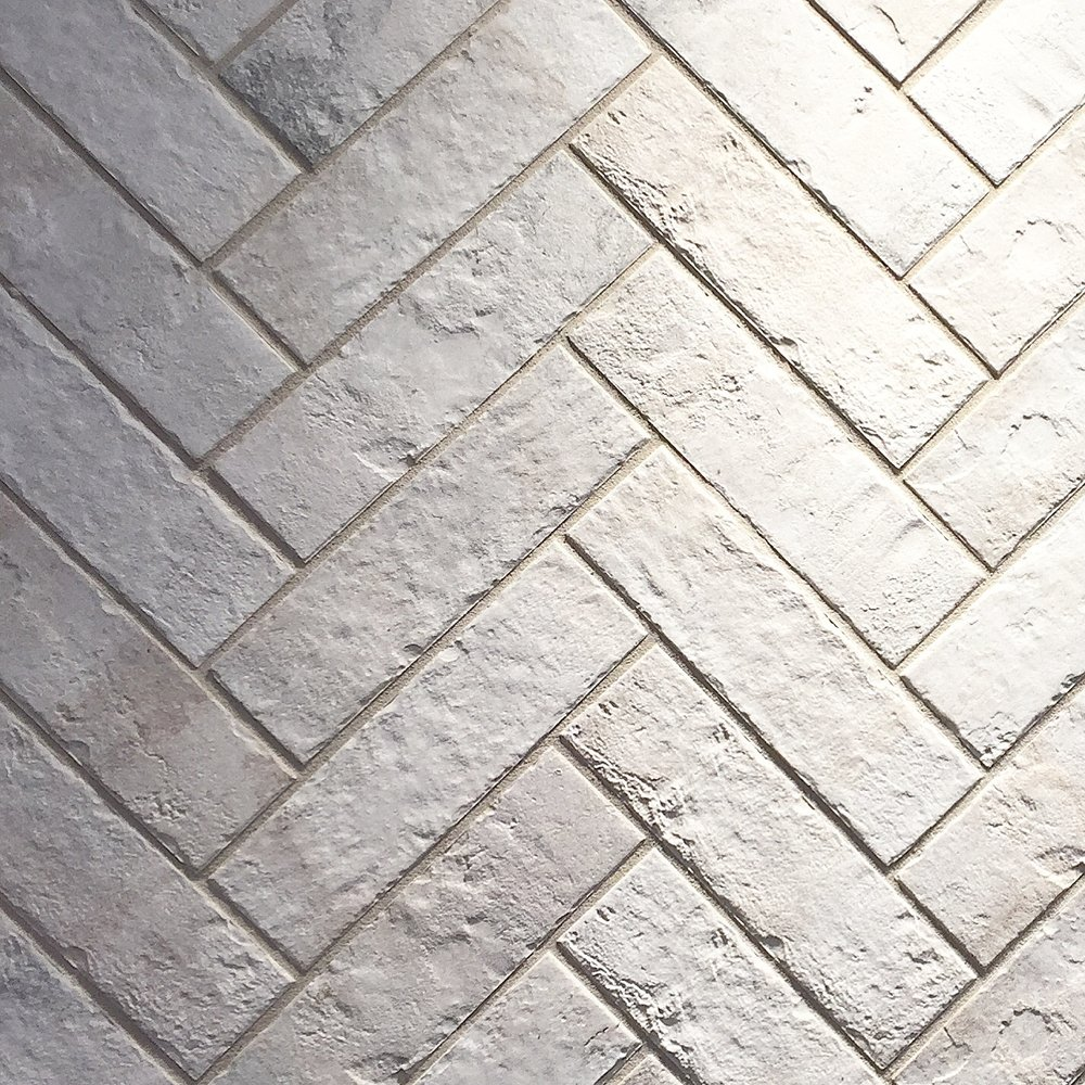 "Daltile ""Brickworks"" - Porcelain tile that looks like whitewashed brick"