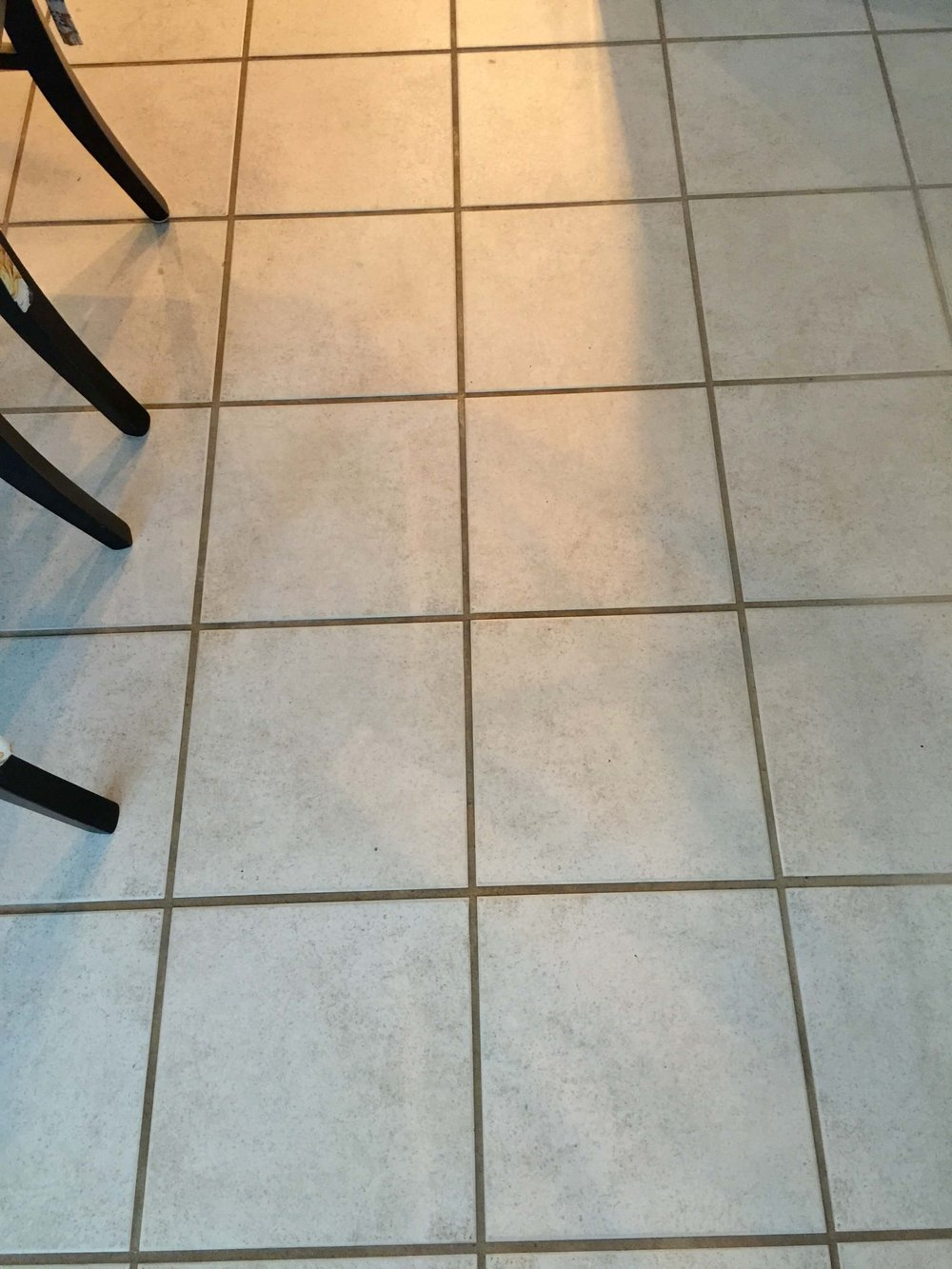 Before - Tile floor of Kitchen Remodel