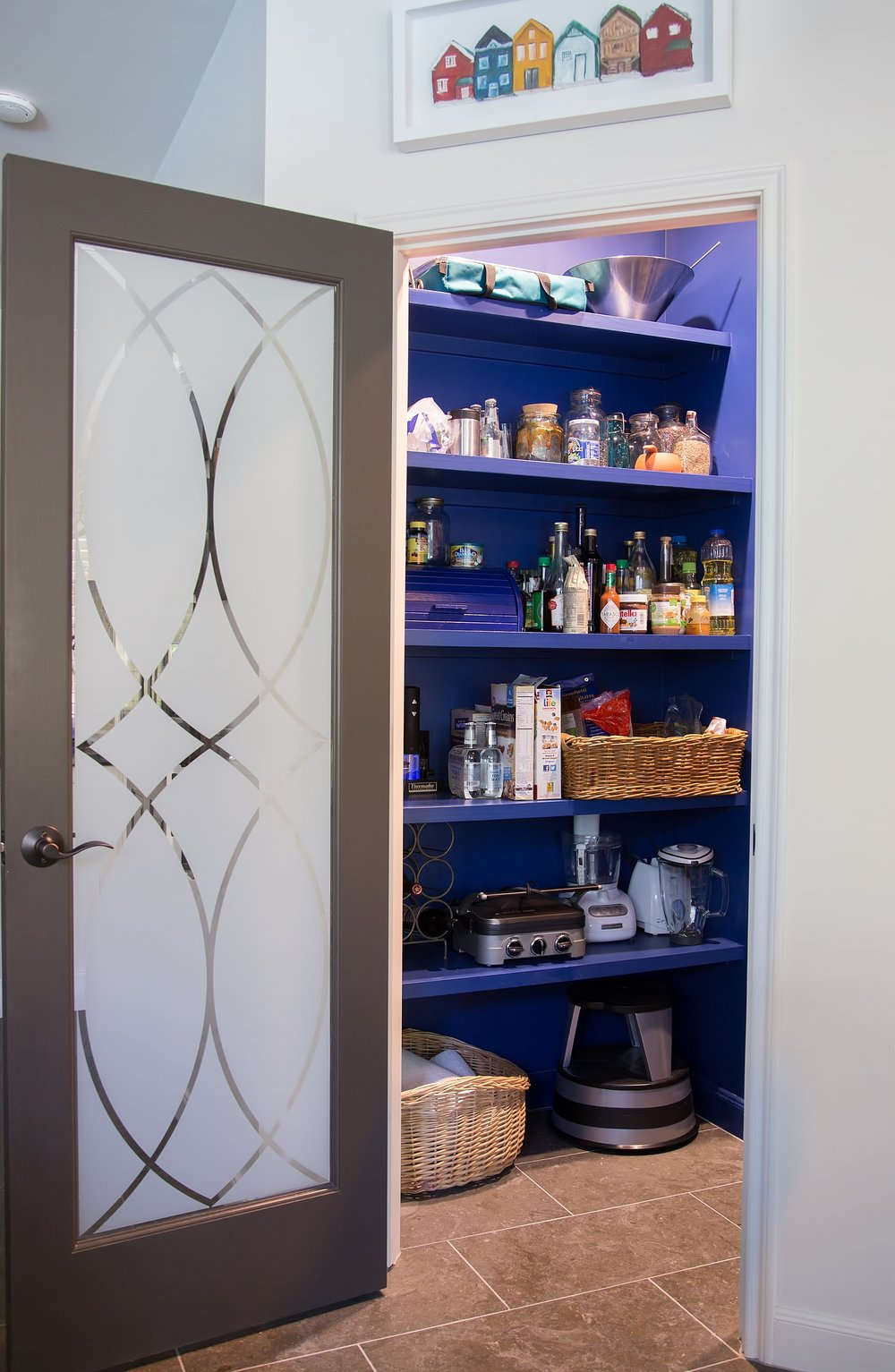 Kitchen Pantry in Indigo Blue - Carla Aston, Designer