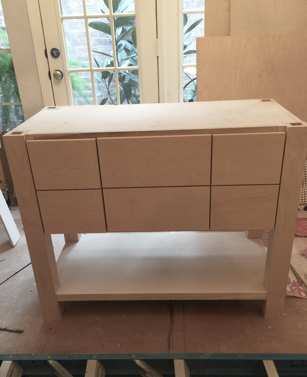 Custom vanity is made and ready to paint