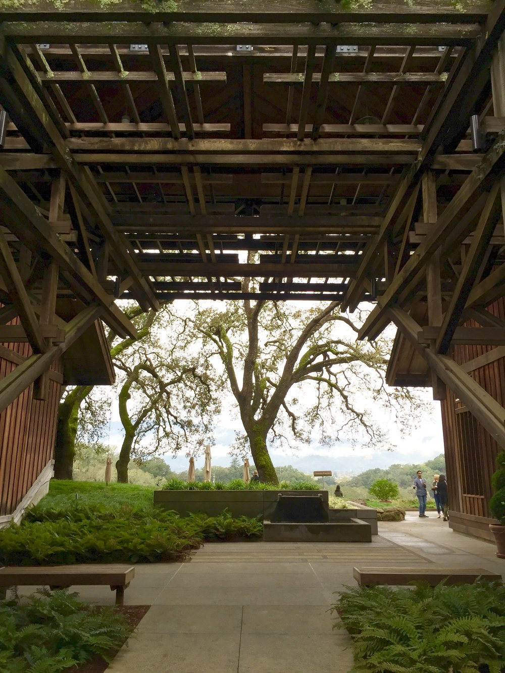 The grand entrance at Joseph Phelps Vineyards - a winery to see for the interiors, views, architecture, and the wine