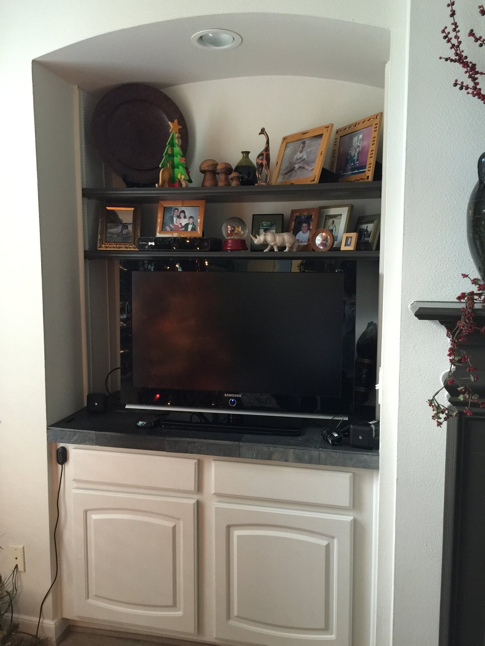 Existing tv niche to be redone