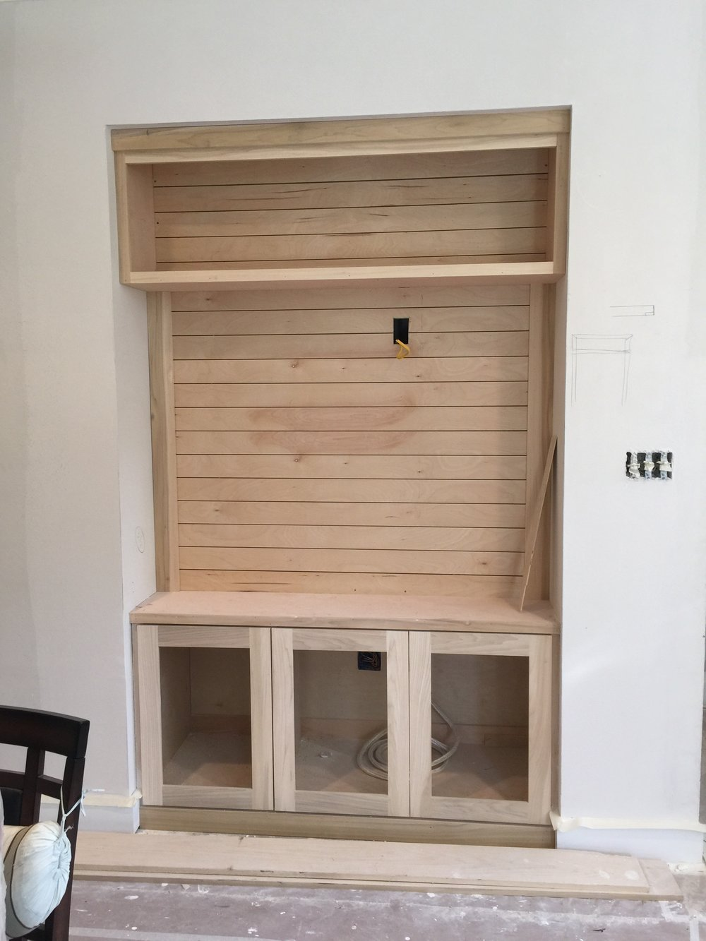 TV / Media cabinet under construction