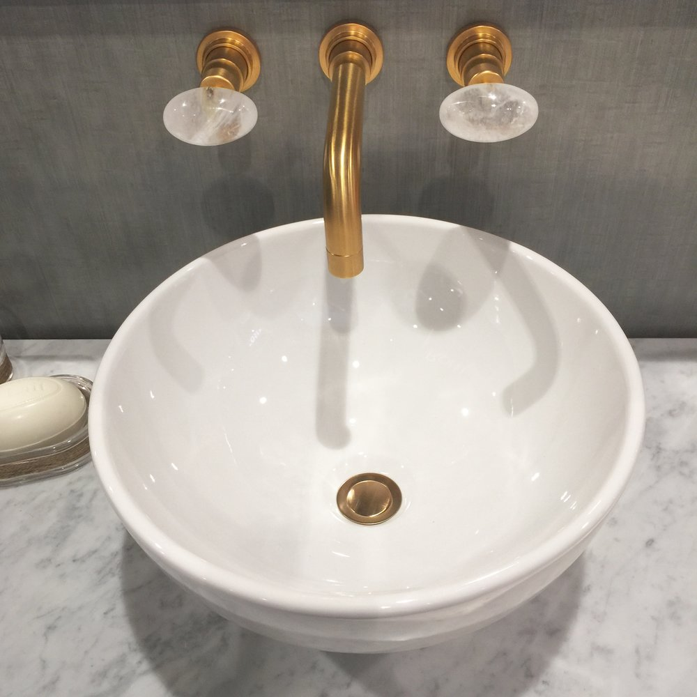 Beautiful Rohl faucet and vessel sink