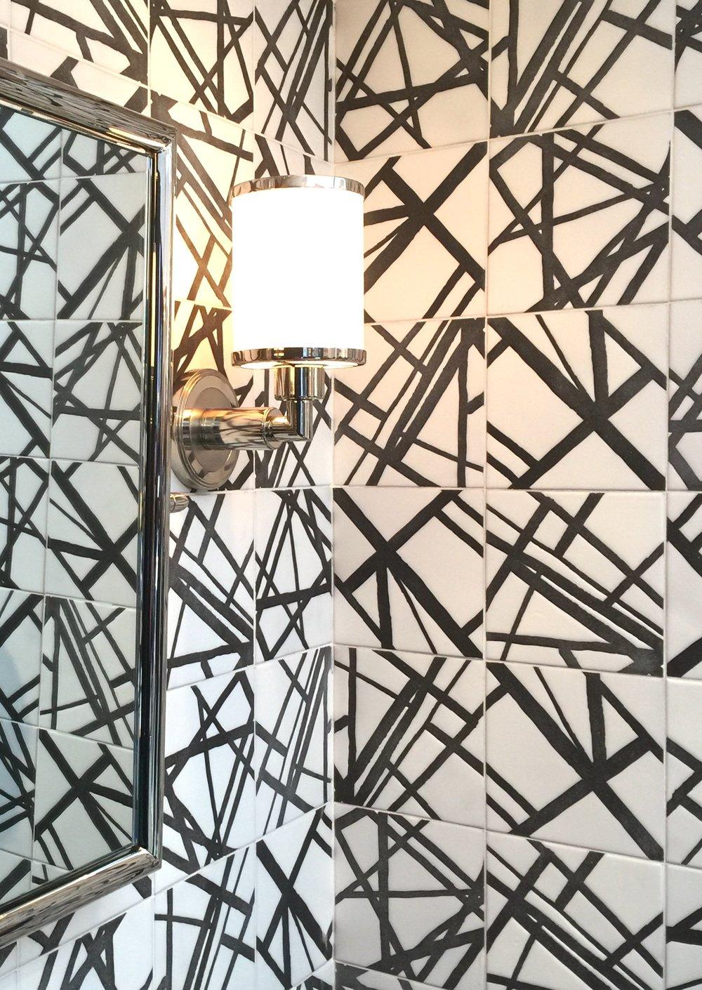 Ann Sacks booth with Kelly Wearstler tile