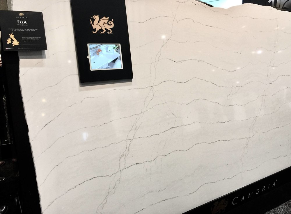 New quartz slab, Ella, from Cambria