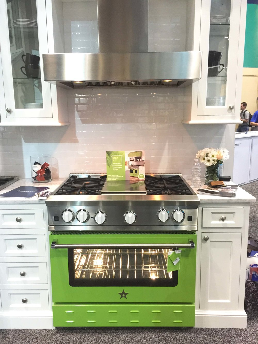Blue Star Appliances featured a range in Pantone's Color of the Year, Greenery.