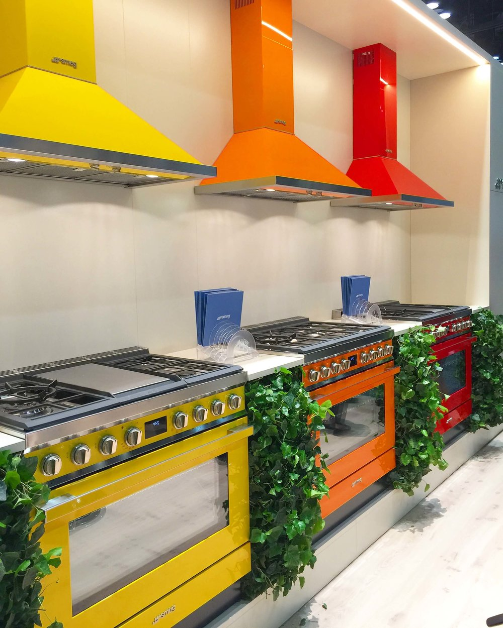 Colorful Smeg appliances with a more contemporary look