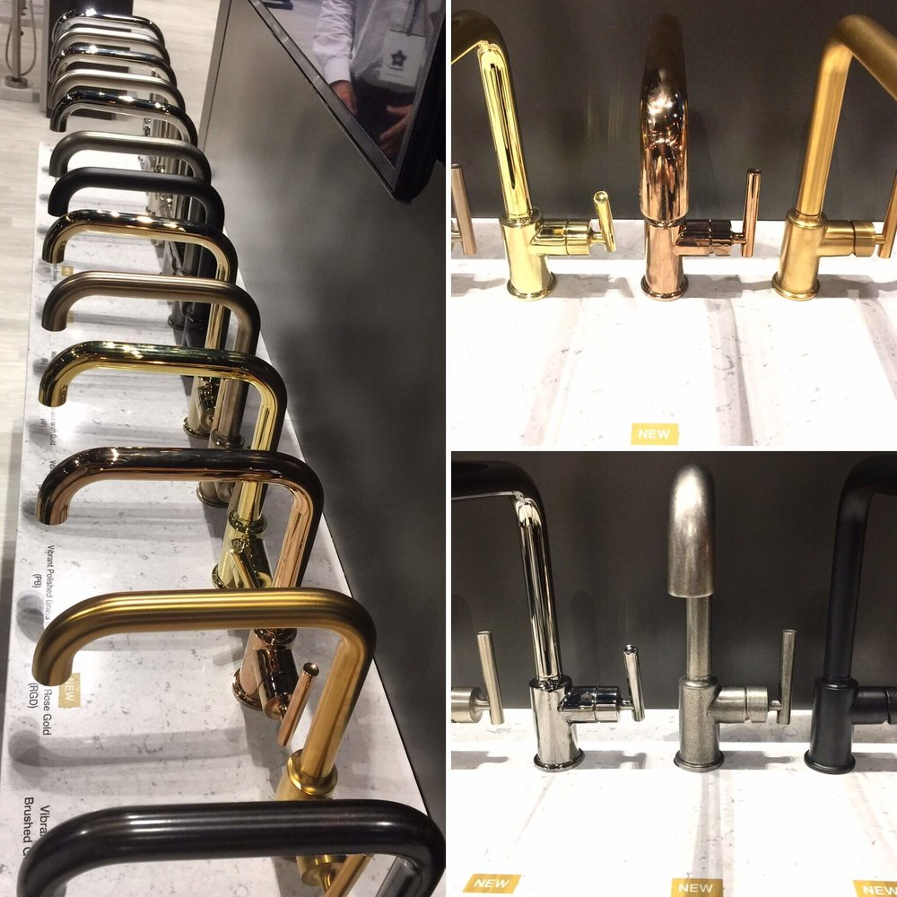 So many faucet finishes to choose from at Kohler. Now, there's even Rose Gold.