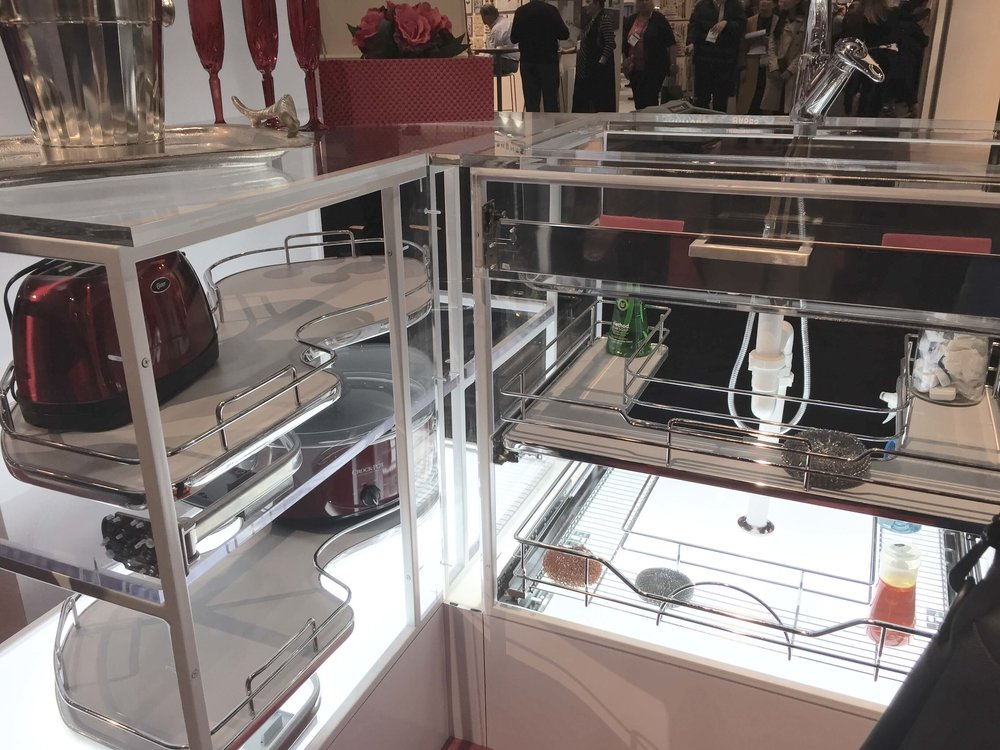 Pull-outs from Rev-A-Shelf, seen at KBIS 2017