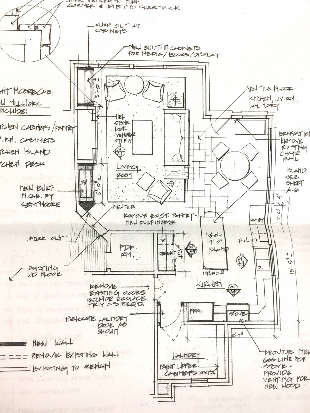 hand drawn floor plan