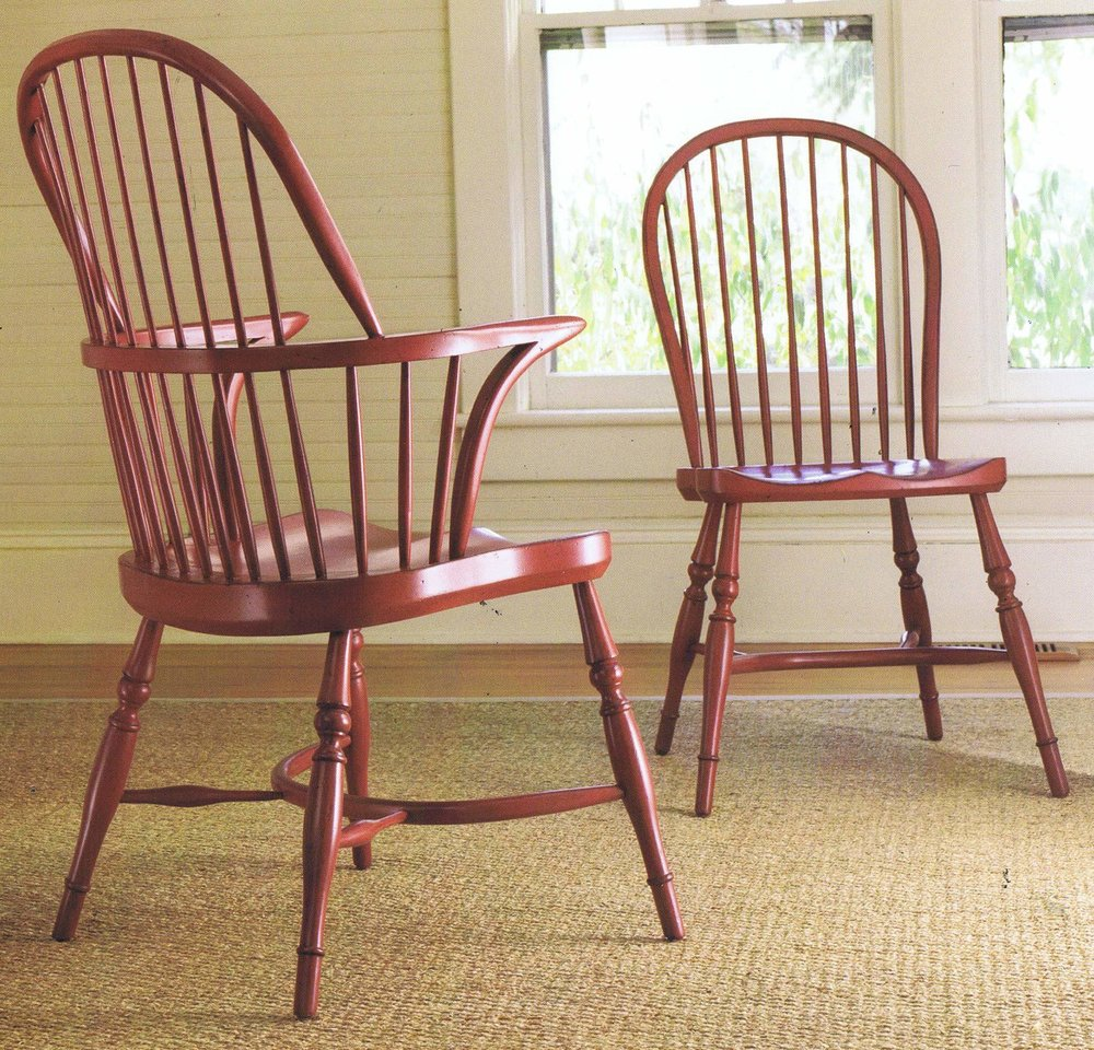 Somerset Bay Windsor Chairs in Cherry Cobbler Finish