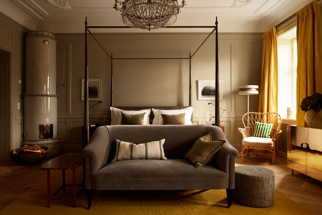 Ett Hem Hotel - Designed by Ilse Crawford, Image via:  Architectural Digest