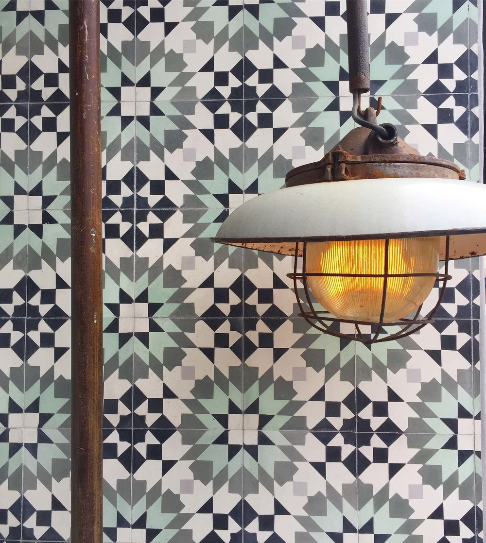 Graphic tile inspiration from shopping Venice's Abbott-Kinney Road