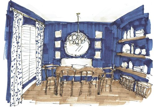 Dining Room Sketch For Edesign Project
