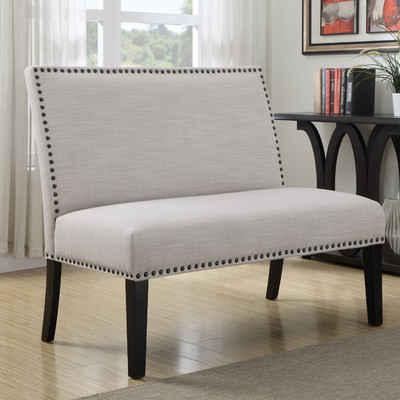 Upholstered bench for dining room seating