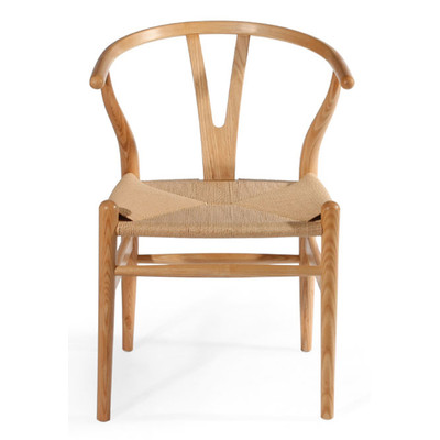 Natural finish wishbone chair