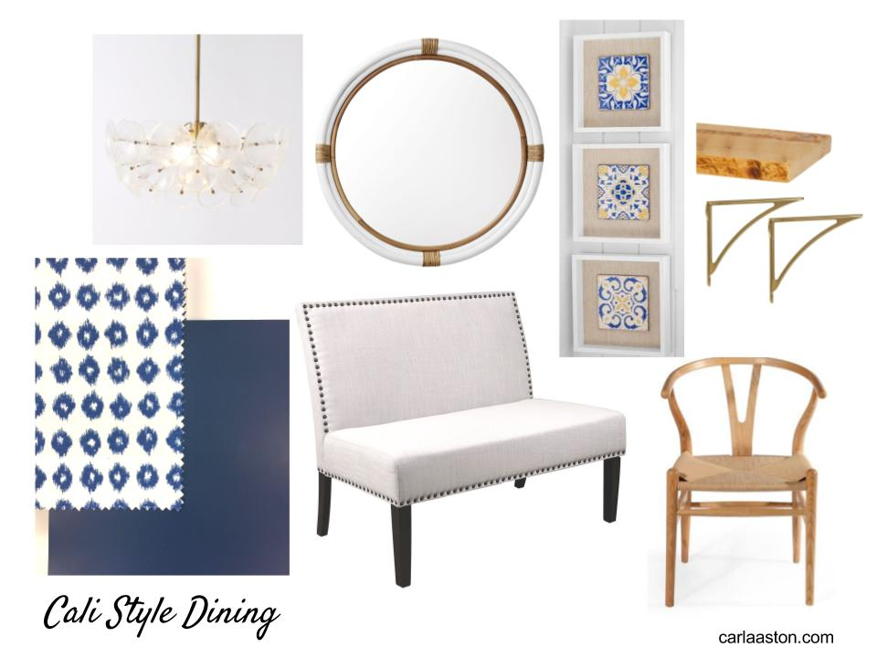Cali Style Dining Room Storyboard