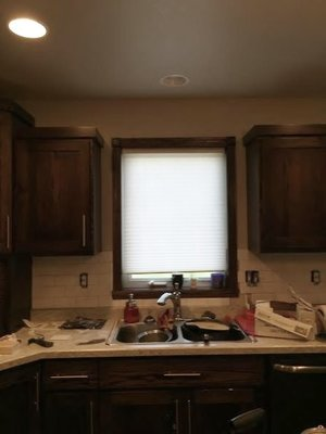 Those Pesky Little Kitchen Windows And How To Make Them Look Bigger - Kitchen window light fixtures