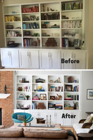 See how we refreshed these bookshelves by clicking HERE.