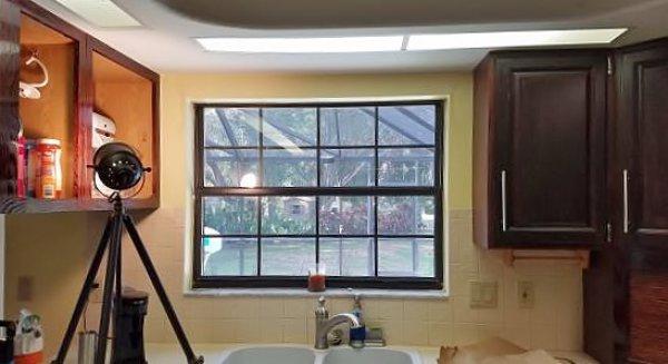 Kitchen Backsplash at window detail
