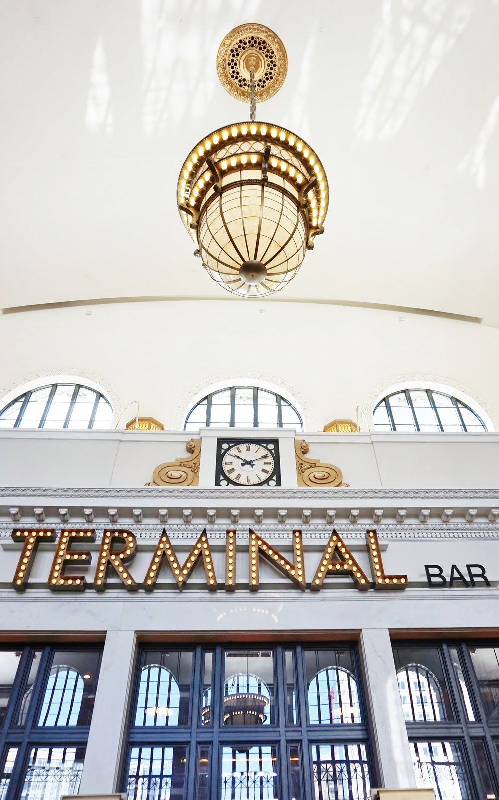 Architectural details and adaptive reuse at The Crawford Hotel at Union Station, Denver