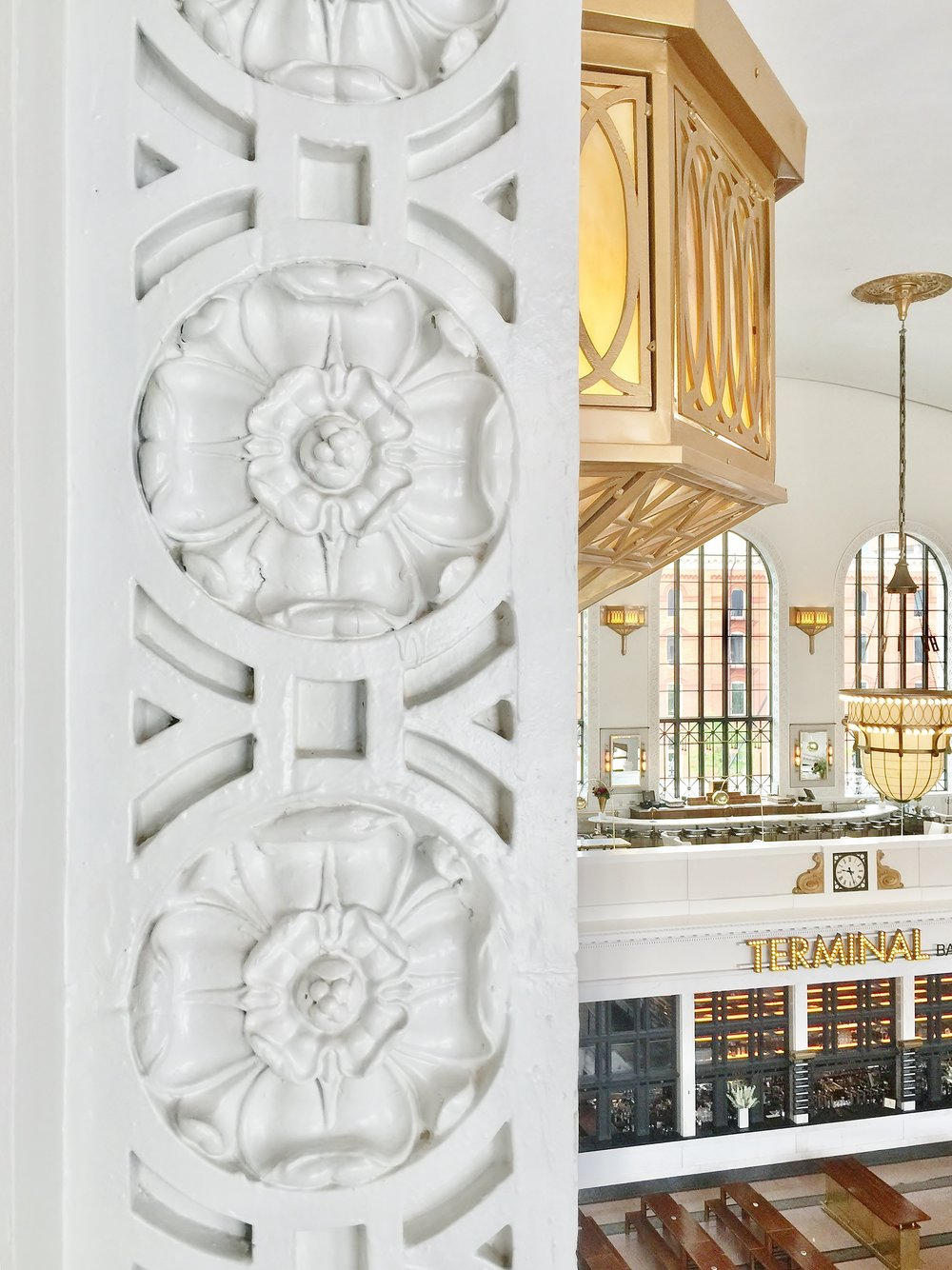Arch moulding details | The Crawford Hotel