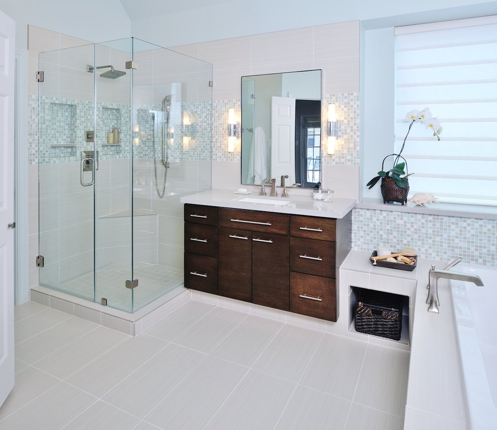 How To Do Wall Tile In Bathroom: 11 Simple Ways To Make A Small Bathroom Look BIGGER